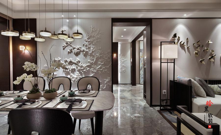 晗昱軟裝中天未來方舟新中式家居,清雅的東方情調餐廳1.jpg