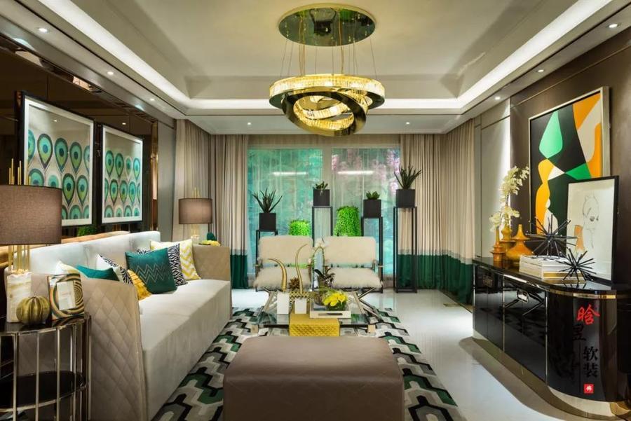 晗昱軟裝美的林城時代現代輕奢家居,讓個性標記生活客廳1.jpg