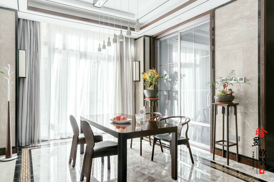 晗昱軟裝恒大中央公園新中式家居細品東方之美餐廳2.jpg
