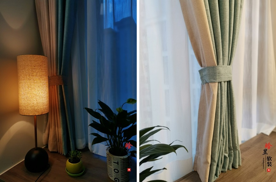 晗昱軟裝實景案例  美的國賓府99㎡現代家居,軟裝前后對比9.jpg