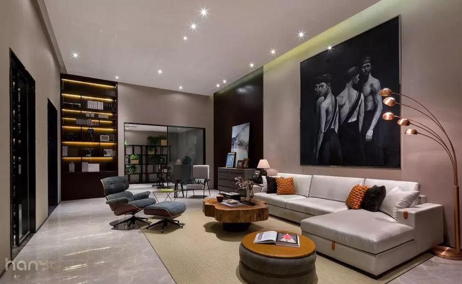 實景案例 中鐵逸都現代簡約家居,就愛這樣的純粹休閑室1.jpg