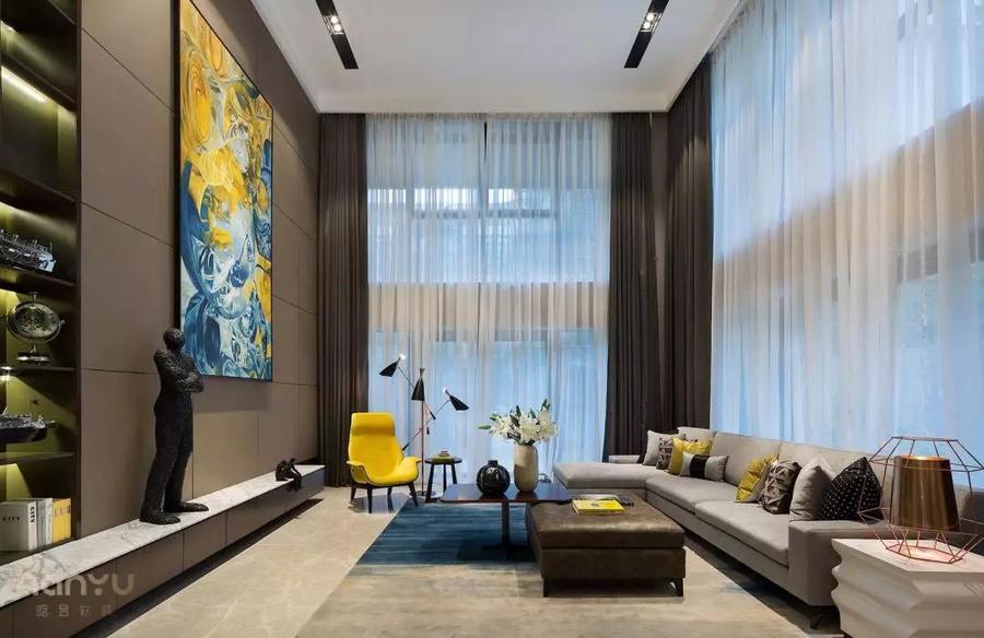 實景案例  中鐵逸都現代簡約家居,就愛這樣的純粹客廳1.jpg