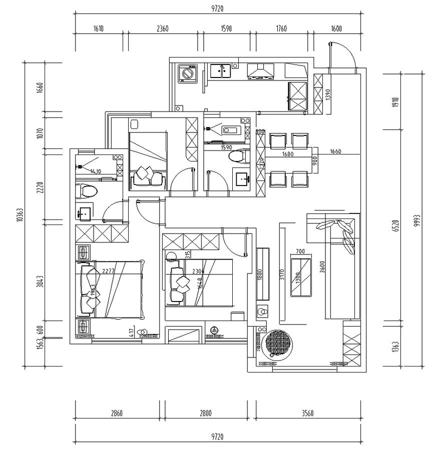 晗昱軟裝實景案例  美的國賓府99㎡現代家居,軟裝前后對比1.png